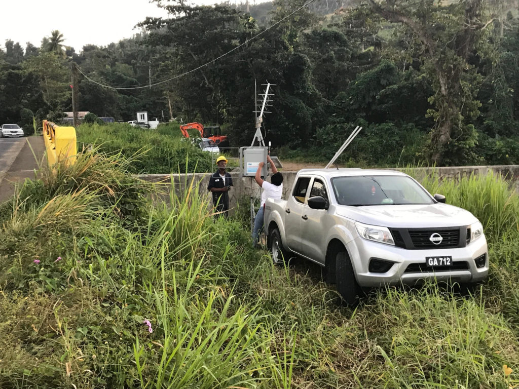 Automatic Weather Monitoring Station Installations Begin in Dominica